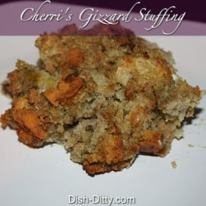 Thanksgiving Gizzard Stuffing
