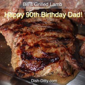 Bill's Grilled Lamb