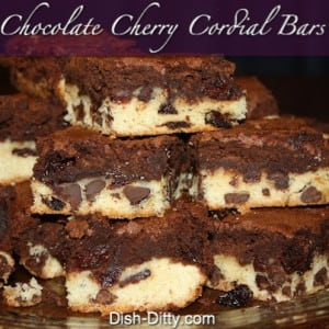 Chocolate Cherry Cordial Bars
