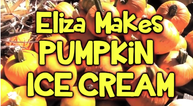 Eliza Makes Pumpkin Ice Cream