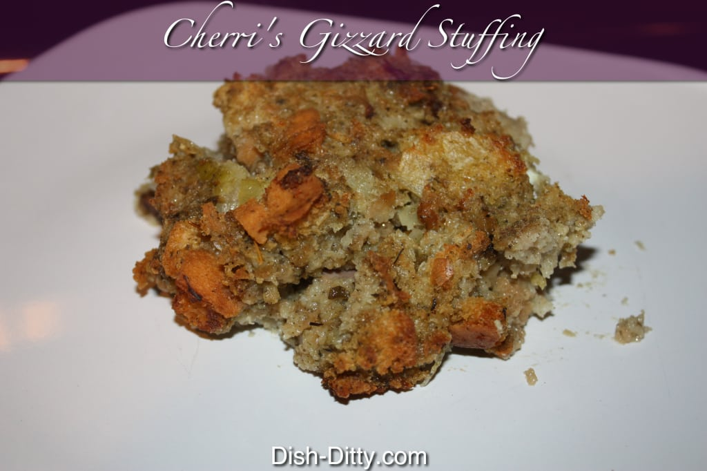 Cherri's Thanksgiving Gizzard Stuffing
