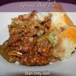 Ground Beef Pie (poor man's Shepherds Pie)