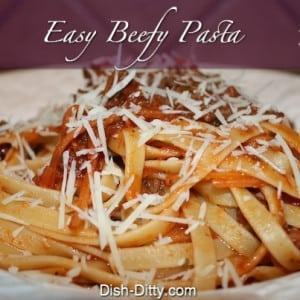 Easy Beefy Pasta