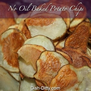 No Oil Baked Potato Chips
