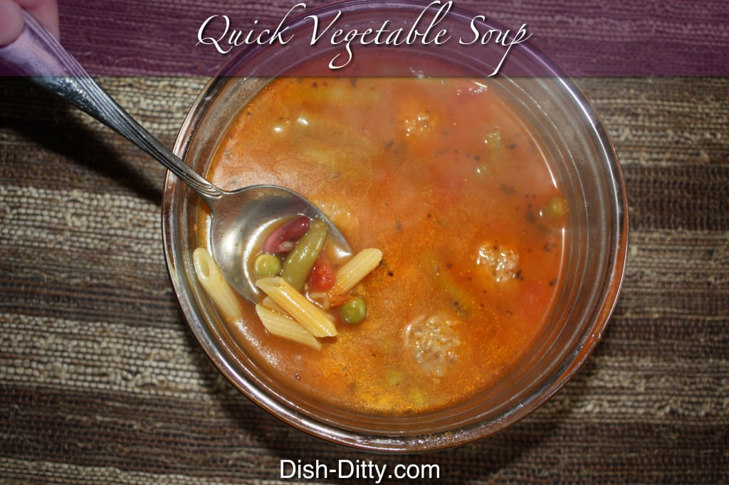 Quick Vegetable Meatball Soup
