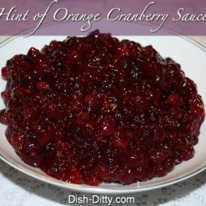 Hint of Orange Cranberry Sauce