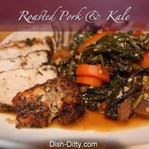 Roasted Pork Sirloin Tip with Kale