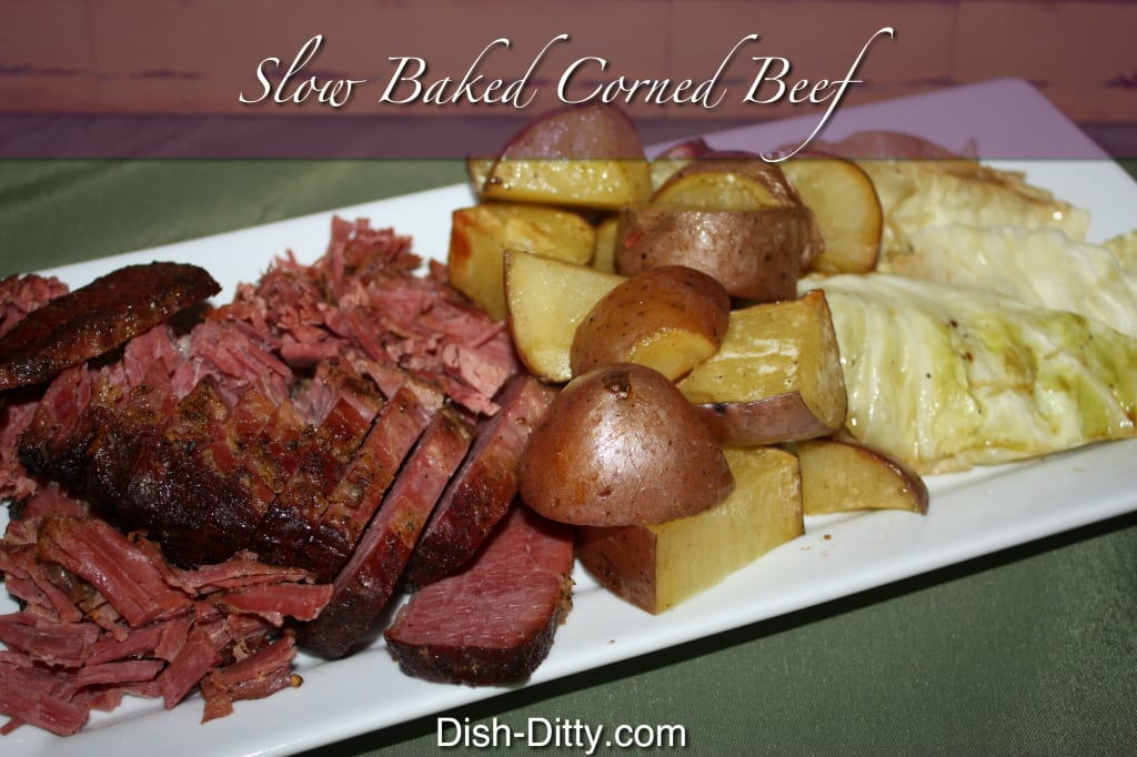 Slow Baked Corned Beef by Dish Ditty