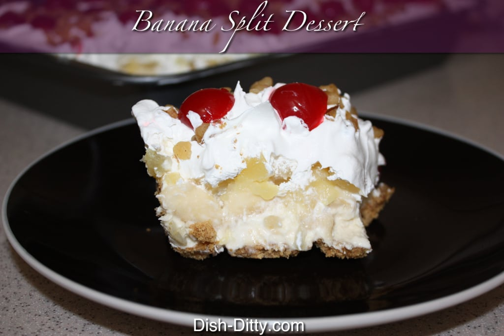 Grandma's Banana Split Dessert by Dish Ditty