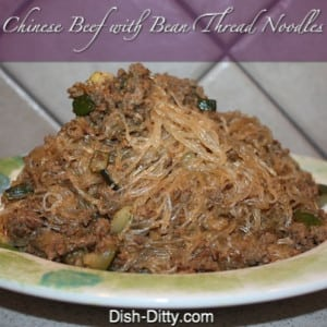 Chinese Beef with Bean Thread Noodles