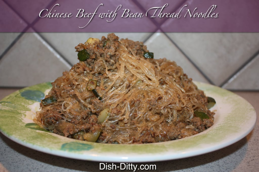 Chinese Beef with Bean Thread Noodles by Dish Ditty