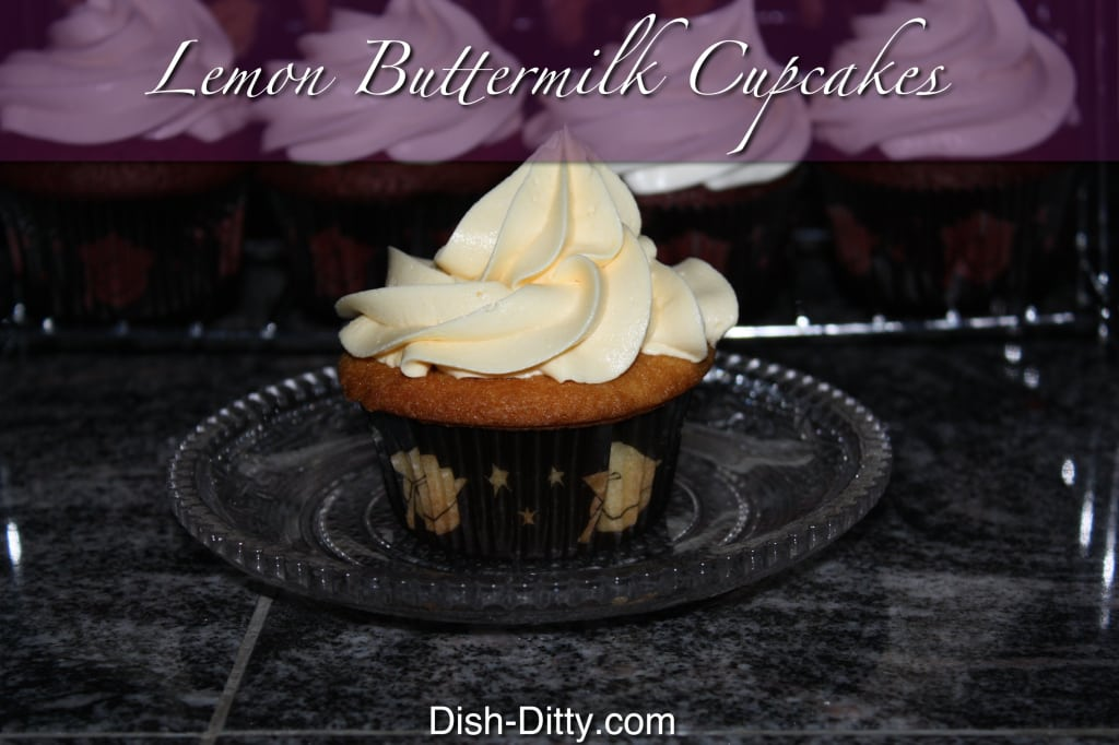 Lemon Buttermilk Cupcakes by Dish Ditty