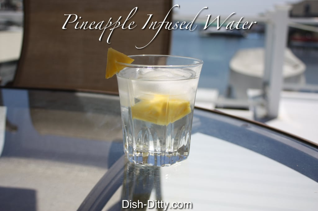 Pineapple Infused Water by Dish Ditty