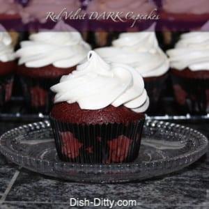 Red Velvet Dark Cupcakes