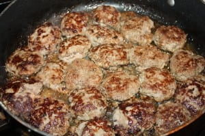Cook all the patties