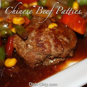 Chinese Style Beef Patties