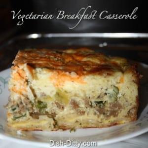 Vegetarian Breakfast Casserole (Dairy Free)