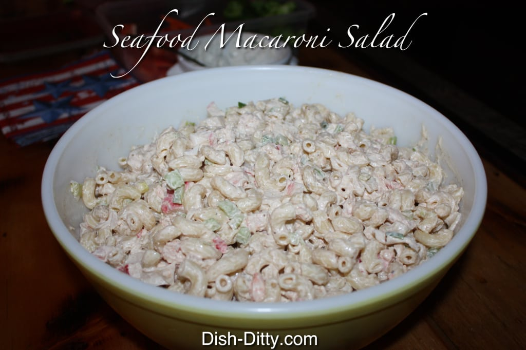 Seafood Macaroni Salad by Dish Ditty