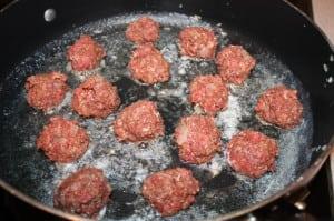 Cook meatballs in butter