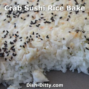 Crab Sushi Rice Bake