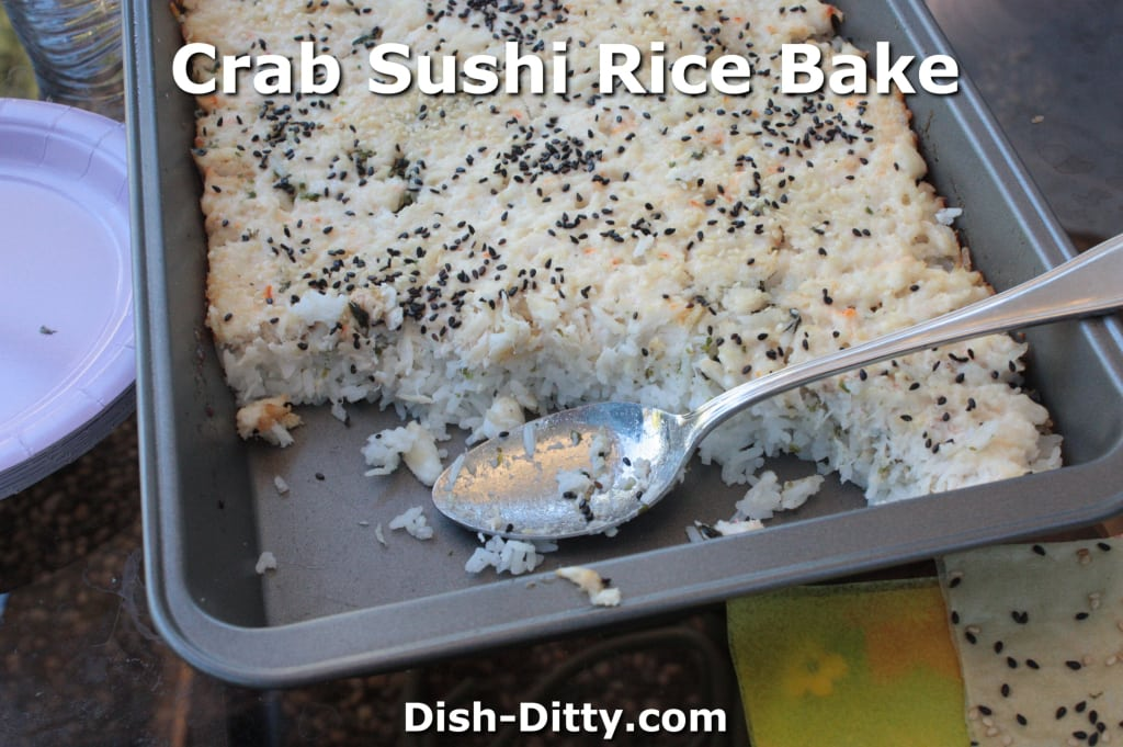 Crab Sushi Rice Bake by Dish Ditty
