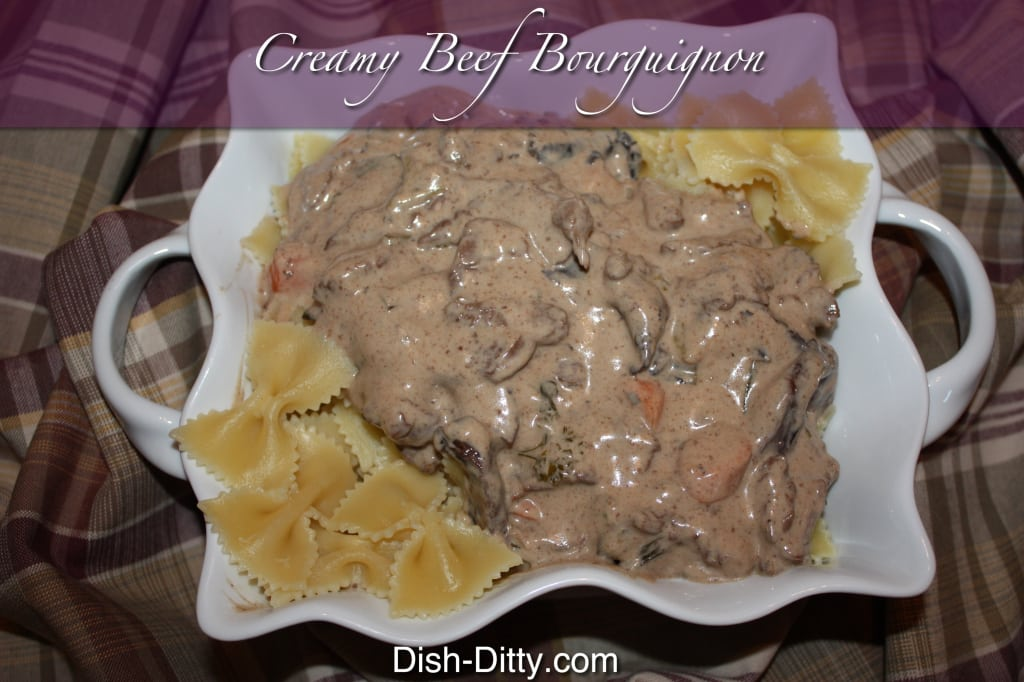 Stovetop Creamy Beef Bourguignon by Dish Ditty