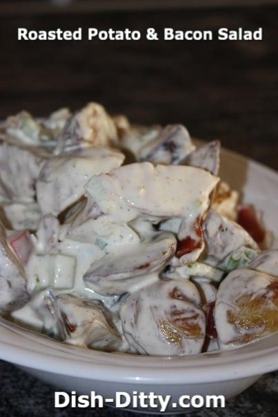Roasted Potato & Bacon Salad Recipe by Dish Ditty
