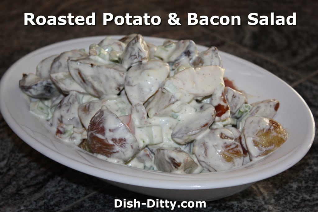 Roasted Potato & Bacon Salad Recipe by Dish Ditty