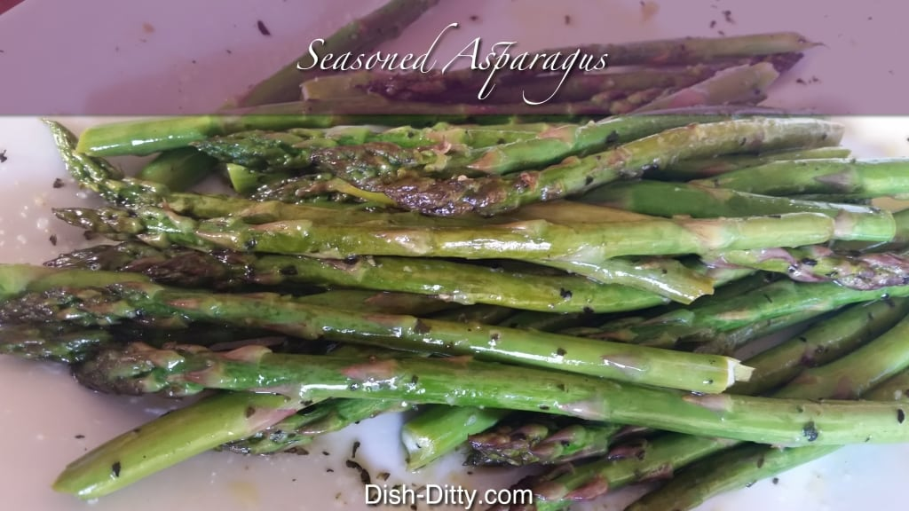 Seasoned Asparagus by Dish Ditty