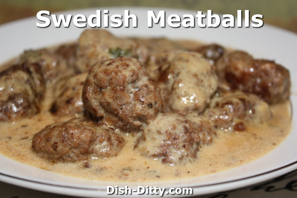 Swedish Meatballs by Dish Ditty
