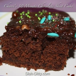 Minute Chocolate Sheet Cake