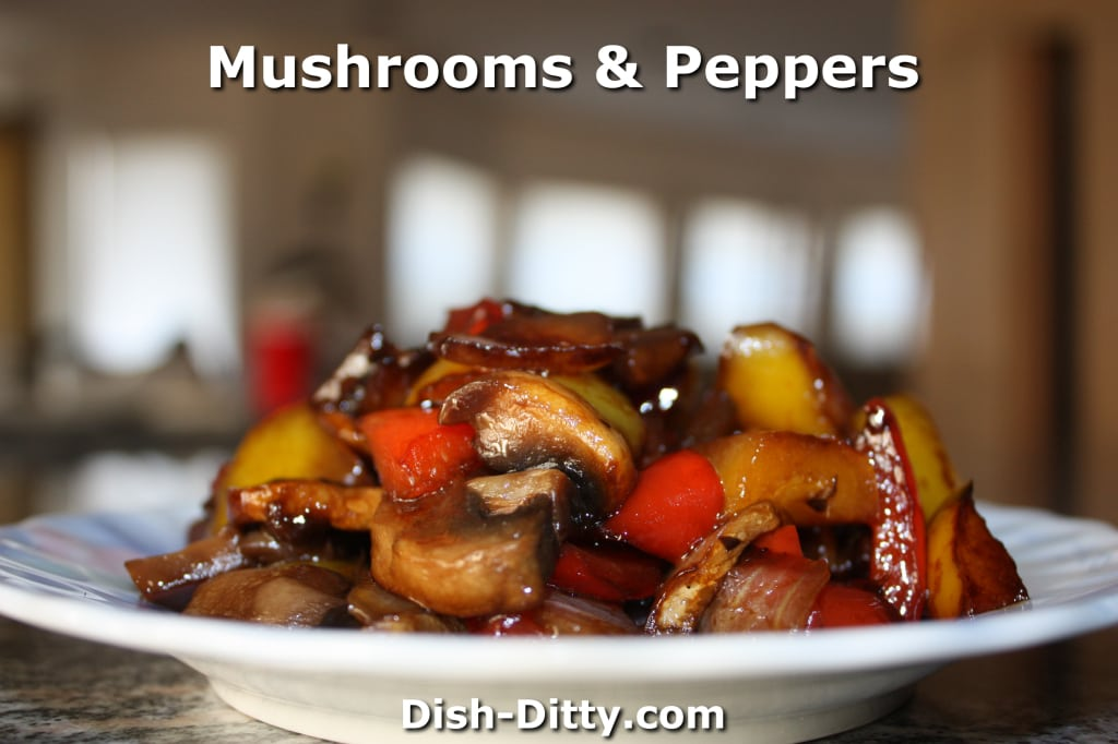 Chinese Mushrooms & Peppers by Dish Ditty