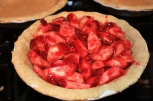 Pour into blind-baked pie crust