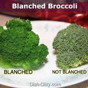 How to Blanch your Vegetables