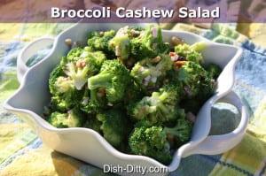 Broccoli Cashew Salad by Dish Ditty