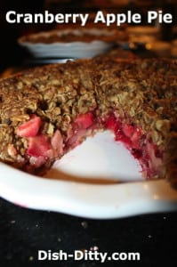 Cranberry Apple Pie by Dish Ditty