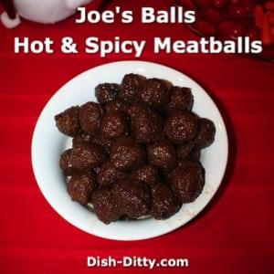 Joe's Balls – Hot & Spicy Meatballs