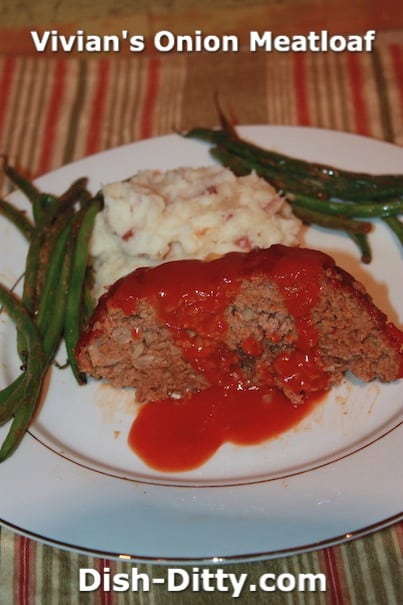 Vivian's Onion Meatloaf by Dish Ditty
