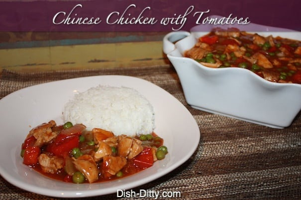 Chinese Chicken with Tomatoes by Dish Ditty Recipes