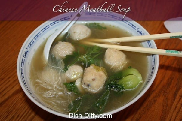 Chinese Meatball Soup by Dish Ditty Recipes