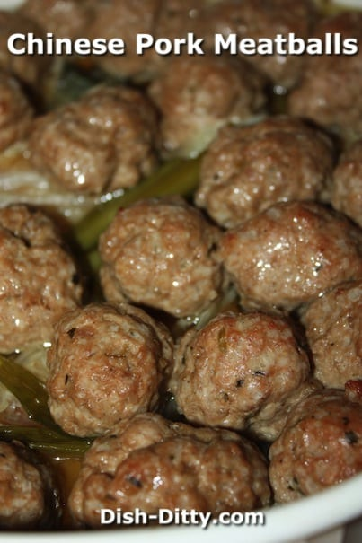 Chinese Pork Meatballs with Cabbage by Dish Ditty Recipes