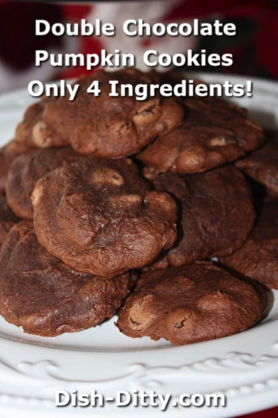 Double Chocolate Pumpkin Brownie Cookies by Dish Ditty Recipes