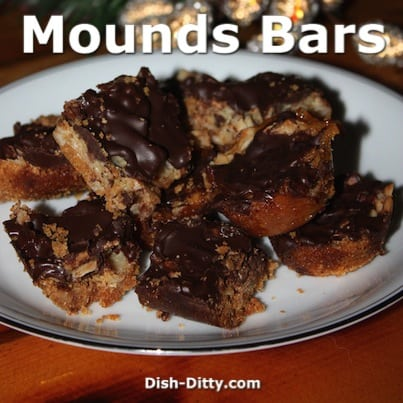 Mounds Bars by Dish Ditty Recipes
