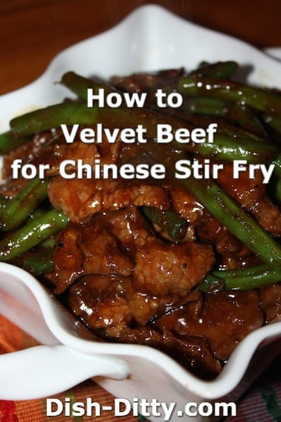 How to Velvet Beef for Chinese Stir Fry by Dish Ditty Recipes