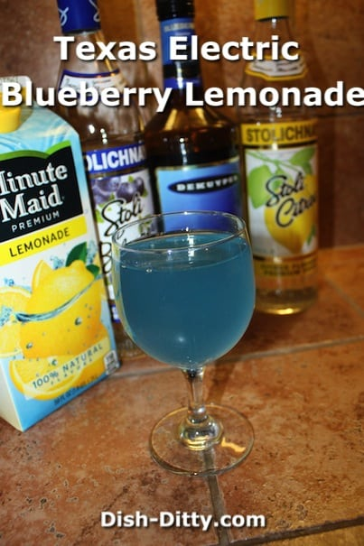 Texas Electric Blueberry Lemonade by Dish Ditty Recipes
