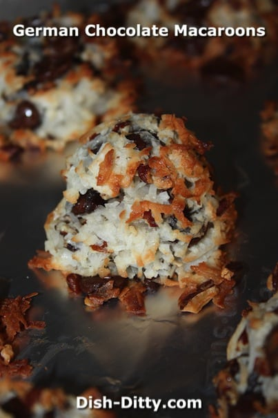 German Chocolate Macaroons by Dish Ditty Recipes