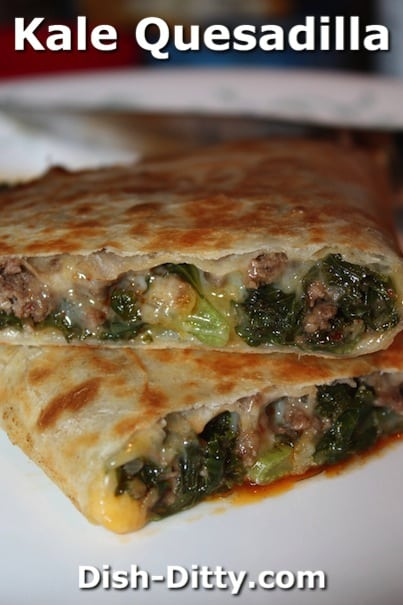 Kale Quesadillas by Dish Ditty Recipes
