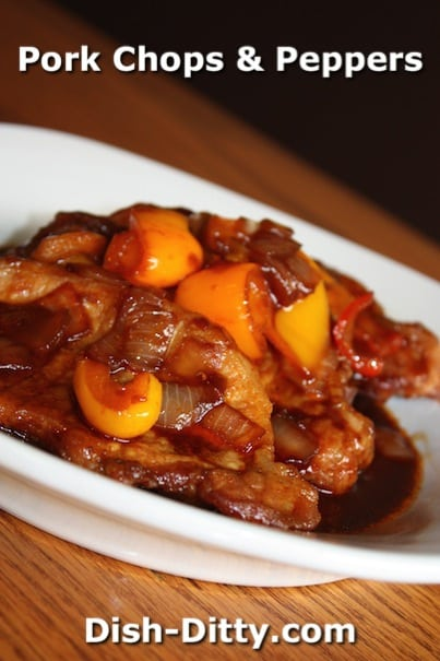Pork Chops & Peppers Chinese Style by Dish Ditty Recipes