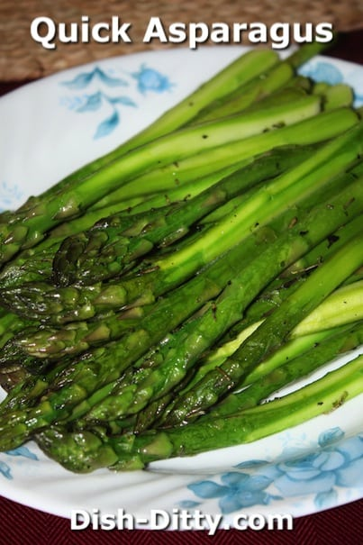 Quick Asparagus by Dish Ditty Recipes