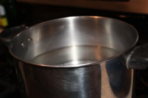 Start a pot of water to boil